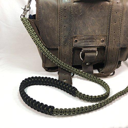 (Olive Drab and Moss Green Camo Paracord 50 inch Cross Body Shoulder Strap, Handbag, Satchel Strap, Duffel Bag, Lunch Bag)