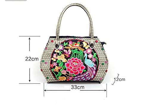 Lanna Siam, Borsa a mano donna multicolore multi color