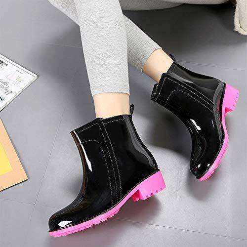 Mini Antiscivolo Boots Gomma Pioggia Stivali Rose Di Per Donna Equitazione F Red Wellington Balabala Da Moda Stivaletti r7vqSrT