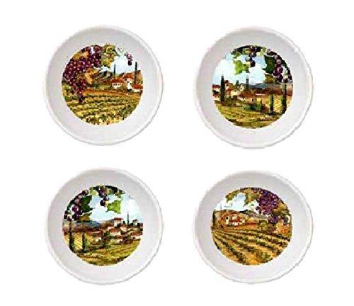 "Merritt Tuscan Vineyards 4.5"" Round Melamine Bowl Set"