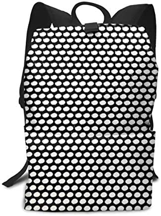 aiyouwuqu-Black and White Pattern Lightweight Backpacks Casual School Bags Daypacks Laptop Backpack Adult Backpack Men and Women