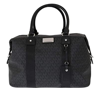 da4c7713d931 Michael Kors LG large travel bag weekender purse MK black carry-on ...