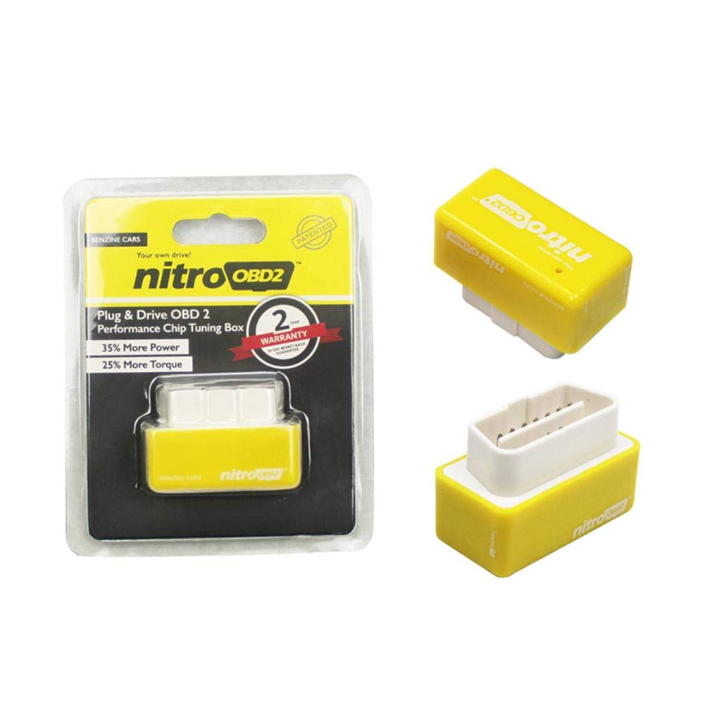 Car Chip Tuning Box Plug and Drive Nitro OBD2 Performance Chip Tuning Box for Diesel Cars Auto Petrol Fuel Saver