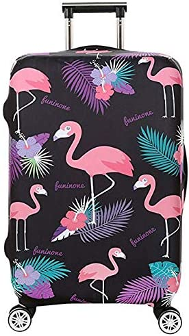 Travel Luggage Cover, Naranja gato Suitcase Flamingo Cute Tropical Protector Washable Spandex Fit for 18-32 Inch Luggage style5, S