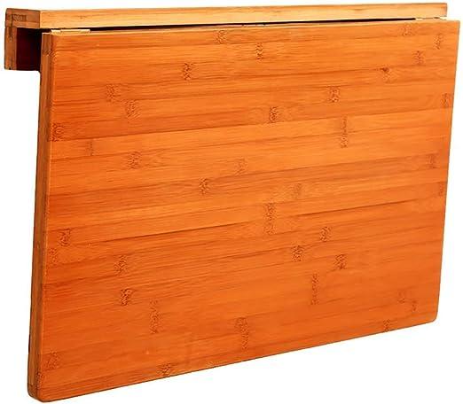 WTT - Mesa Plegable Plegable de Hoja de bambú, Mesa Colgante de ...