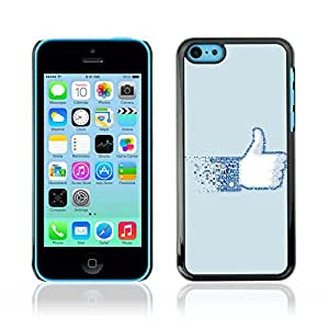 CASETOPIA / Like Facebook / Apple Iphone 5C / Black Hard Back Case Cover Shell Armor Protection