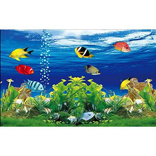 Amazhen Silk Mural 3D Room Wallpaper Custom Mural Wall Sticker Ocean Underwater World Aquarium Photo 3D Wall Murals Wallpaper,368cm254cm ()