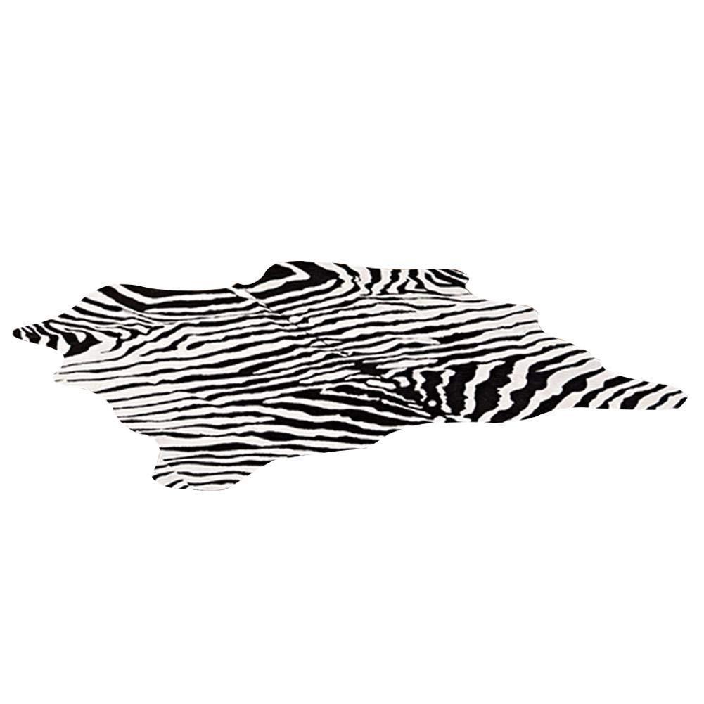johlye Simple Imitation Animal Peau Zebra Vache Motif De Plancher De Tapis Chambre Chambre Tapis Décoration de La Maison Impression Top Qualité De Peau De Vache Tapis Brindle Tricolor