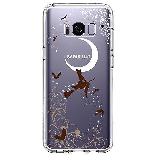 Samsung Galaxy S8 Plus Case, SwiftBox Clear Case with Design for Samsung Galaxy S8 Plus (Halloween (Happy Halloween Logo)
