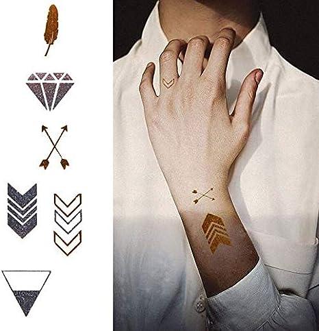 tzxdbh Impermeables Flecha de Plumas Pegatinas Tatuaje Temporal ...