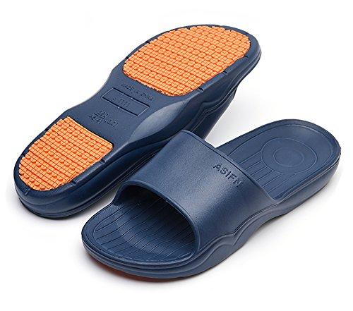 de Mule Bain Chaussures les piscine adulte antidérapant de mousse Sandales Bleu Semelle Salle Plage douche de Think sur pantoufles pour Slip diapositive nzgUt0S