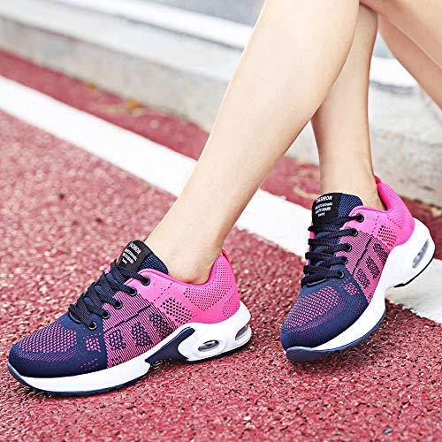 36 39 Running Mujer Transpirable Suela Gruesa Cómodo Para Rojo Correr Malla Moda Zapatillas Deporte Conveniente De Lentejuelas Sylar gU8qBZn