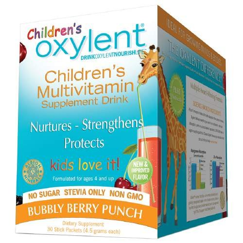Oxylent Children's Multivitamin Drink, Packets, Bubbly Berry Punch 30 ea
