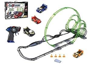 Silverlit 82397 3D X-Trek - Circuito de carreras (circuito de 12,9m, 2 vehículos y 2 mandos a distancia por infrarrojos)