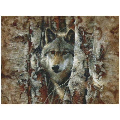 M C G Textiles Woodland Spirit 16 Count Counted Cross Stitch Kit, 16 x 12-Inch