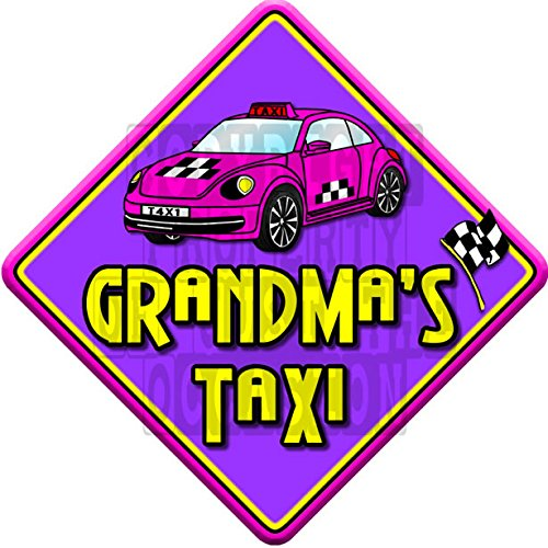 IMPACT GRANDMA'S TAXI non personalised novelty baby on board car window sign Just The Occasion