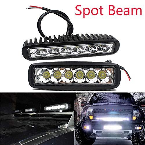 18W Type Thin LED Automotive Working Lamp Spotlight Engineering Auxiliary Lamp Overhead Lighting Spot