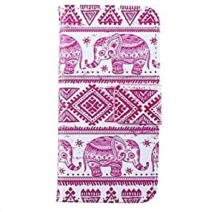 DD Pink Elephant Pattern PU Leather Full Body Case for iPhone 5/5S