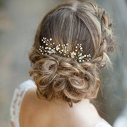 062ddd91dcec Forcine per capelli da sposa Aukmla