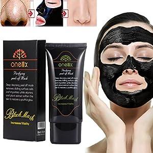 Boolavard Blackhead masks, Face Mask, Blackhead Remover Black Mud Mask, Facial Care Tearing style Deep Clean Blackhead Removal Cleaning Mineral Mud Peel Off Mask (50ml)