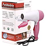 Professional Folding Hair Dryer with 2 Speed Control 1000W