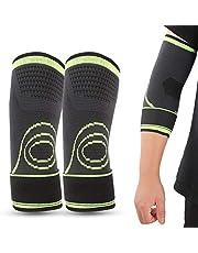 Taidda- Suporte de compressão de cotovelo, suporte elástico para cotovelo, protetor de fitness reduz fadiga na canela para todos os contatos esportivos para crianças/jovens/adultos M