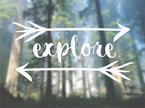 Explore Adventure Arrows Outdoors - Vinyl Decal - Car Phone (Outdoor Vinyl Decal)
