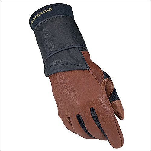 10 Size Left Hand Heritage PRO 8.0 Bull Riding Glove Deer Skin Leather Brown