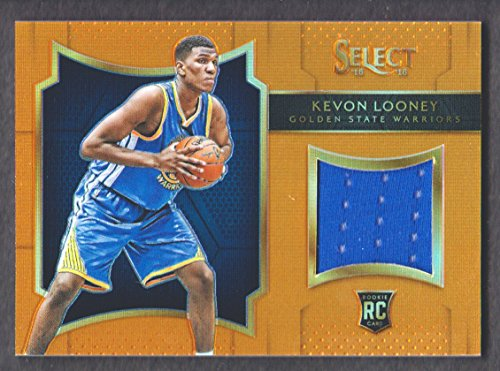 2015-16 Select Rookie Swatches Prizms Orange #18 Kevon Looney Jersey 52/60