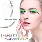 BMK Things for Party LED Eyelashes Light Waterproof Shining Eyeliner False Eyelashes for Nightclub Bar and Birthday