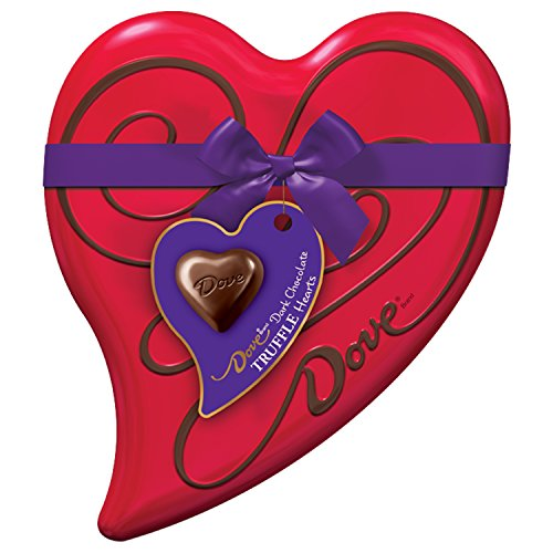DOVE Valentine's Dark Chocolate Truffles Heart Gift Box 6.5-Ounce Tin (Dove Tin)