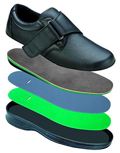 Orthofeet Most Comfortable Bunions Diabetic Orthopedic Arthritis Women's Strap Shoes Arcadia Black