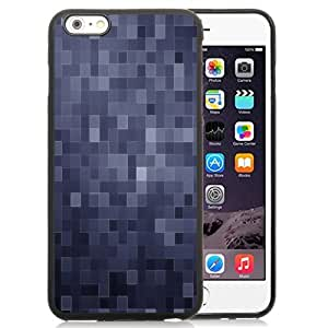 Beautiful Custom Designed Cover Case For iPhone 6 Plus 5.5 Inch With Dark Blue Squares Phone Case
