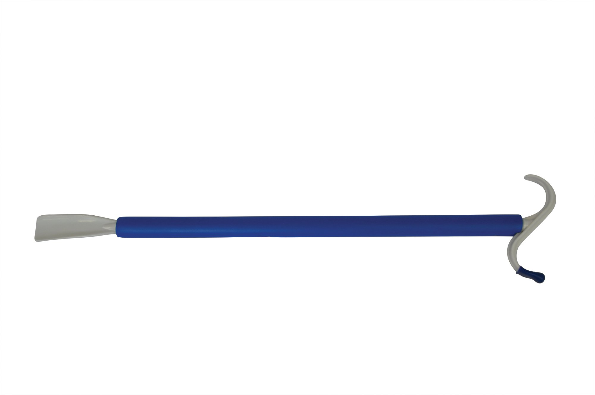 Blue Jay Dressing Stick - 24'' Soft Foam-Covered Handle, 2-in-1 tool, Dressing Made Easy, Rounded S Plastic top hook, No Stretching or Straining Shoehorn Dressing Aid