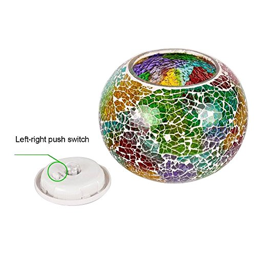 FuriGer Color Changing solar lights outdoor, Ideal Gift Color Changing Solar Powered Glass Ball Led Garden Light Outdoor Waterproof 3D Solar Night Light Table Lamps for Indoor Outdoor Decorations by FuriGer