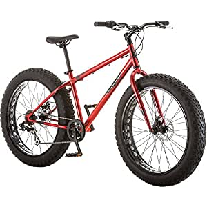 """Mongoose Hitch Men's Fat Tire Bicycle, Red, 26"""""""