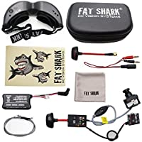 2017 New Version! Fat Shark Teleporter V5 FPV 5.8G Video Goggles W/ Head Tracking (Transmitter and Upgraded 600L CCD Camera Included)