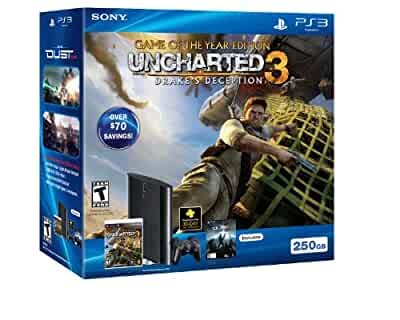 ps3 250gb uncharted 3 game of the year bundle video games. Black Bedroom Furniture Sets. Home Design Ideas
