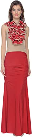 Cocum Nellie Maxi Dress For Women - 8 Uk, Red
