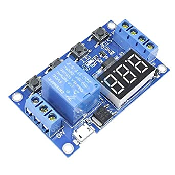 Micro USB 5V LED Automation Delay Timer Control Switch Relay Module Display New