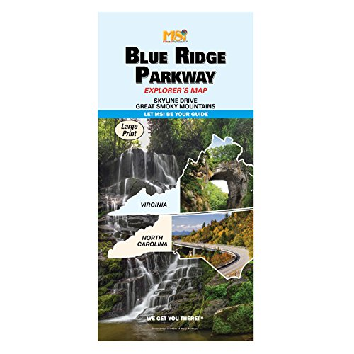 Waterproof Blue Ridge Parkway Explorers Map
