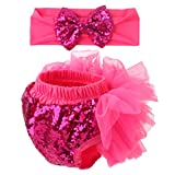 Slowera Baby Girls 2PCS Sets Cotton Tulle Sequins