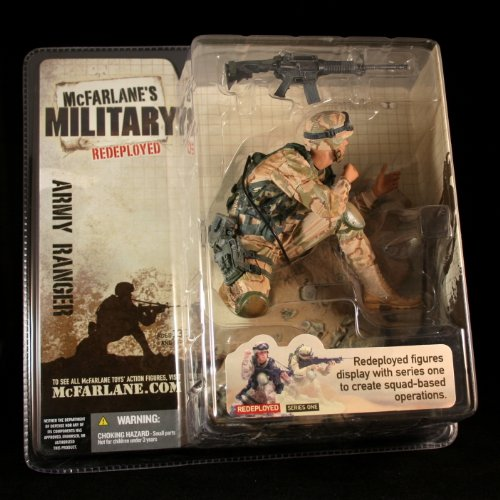 ARMY RANGER * CAUCASIAN VARIATION * McFarlane's Military Redeployed Series 1 Action Figure & Display Base