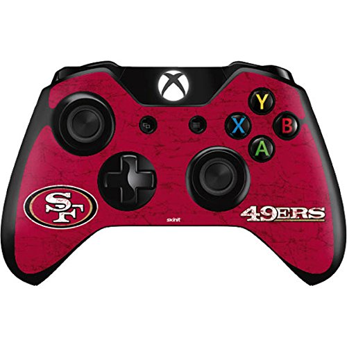 (Skinit San Francisco 49ers Distressed Xbox One Controller Skin - Officially Licensed NFL Gaming Decal - Ultra Thin, Lightweight Vinyl Decal Protection)