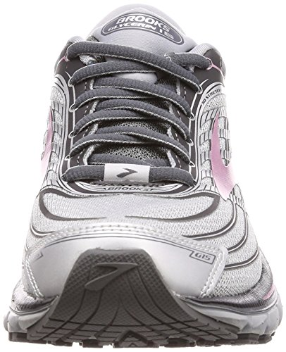 Brooks Womens Glycerin 15 Running Shoe Silver/Grey/Rose