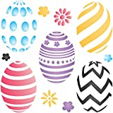 "EASTER EGGS Stencil - (size 5""w x 5""h) Reusable Wall Stencils for Painting -Best Quality Easter Scrapbooking Ideas - Use on Walls, Floors, Fabrics, Glass, Wood, Terracotta, and More…"