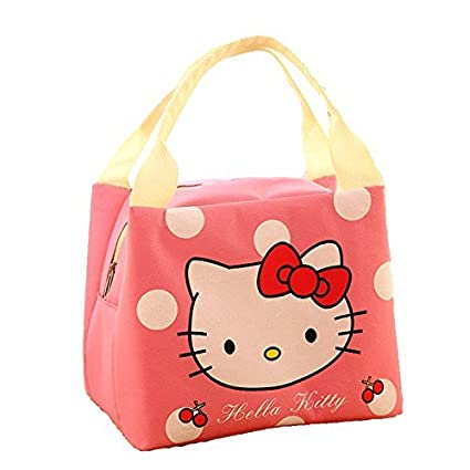 049b50062 Image Unavailable. Image not available for. Colour: SWADEC® Fashion  Portable Hello Kitty Cartoon Cute Insulated Lunch Bag Thermal Women ...