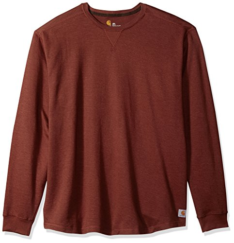 Carhartt Men's Big and Tall Tilden Long Sleeve Crewneck, Sable, 4X-Large