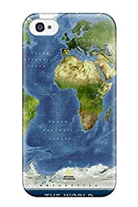 Fashion Protective Map Case Cover For Iphone 4/4s