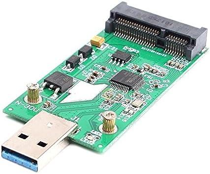 USB 3.0 to Mini PCIE mSATA SSD SATA Adapter Card External ...